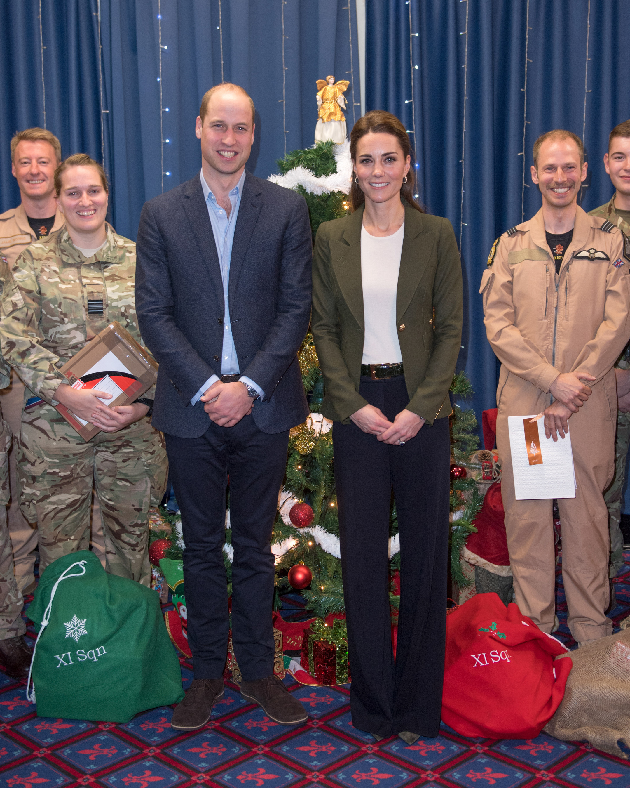 Kate Middleton and Prince William at the Oasis Centre with RAF soldiers in Cyprus