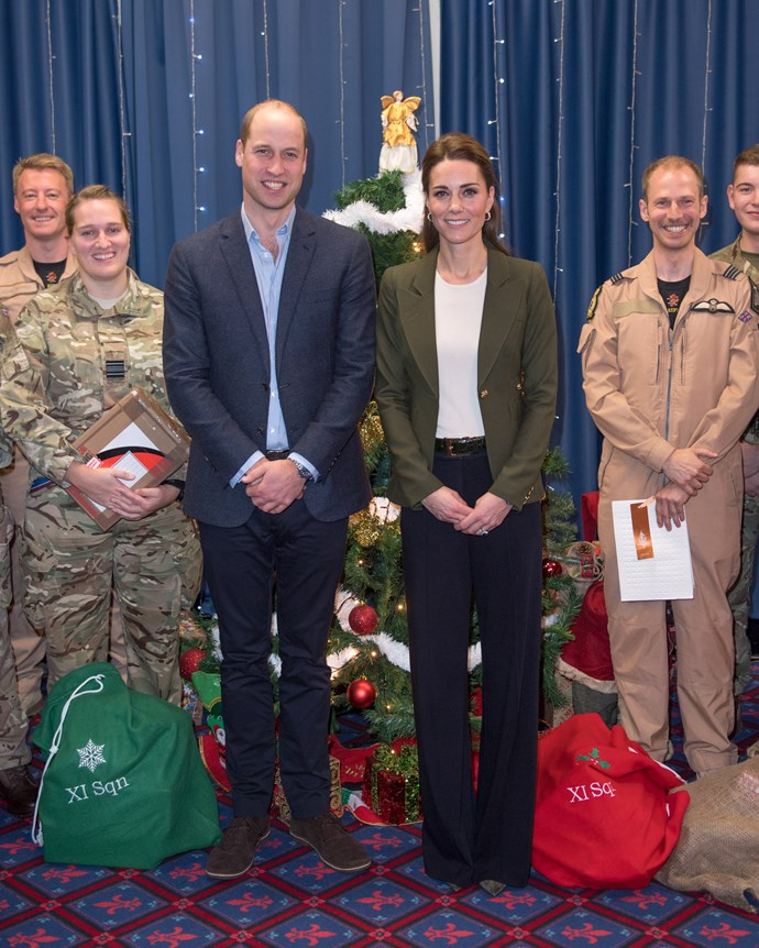 Kate Middleton and Prince William at the Oasis Centre with RAF soldiers in Cyprus, December 5, 2018.