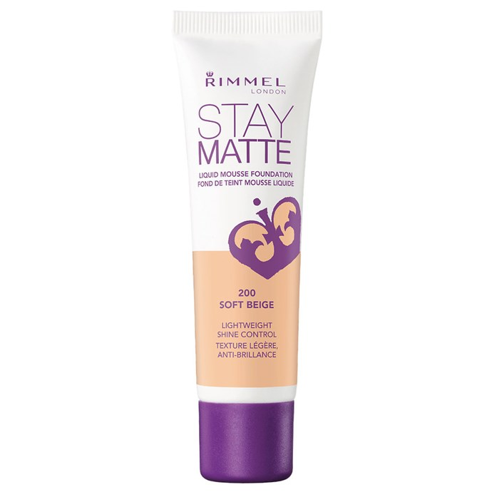 "Staying soft while avoiding that greasy feeling, Rimmel's option is the perfect everyday foundation.<br><bR> Stay Matte Liquid Mousse Foundation by Rimmel, $7.47 at [Priceline](https://www.priceline.com.au/rimmel-stay-matte-liquid-mousse-foundation-30-ml|target=""_blank""