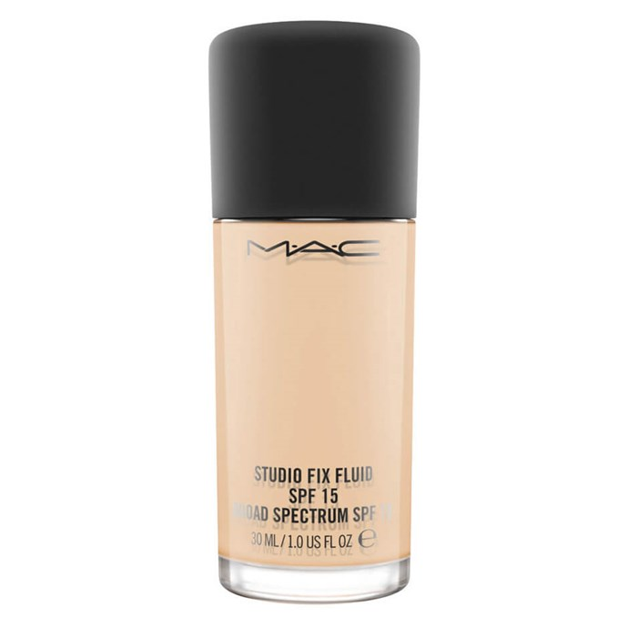 "An iconic choice, M.A.C's foundation bills itself as medium coverage with SPF for skin protection.<br><Br> Studio Fix Fluid SPF 15 by M.A.C, $54 at [MECCA](https://www.mecca.com.au/mac-cosmetics/studio-fix-fluid-spf-15/V-030340.html|target=""_blank""