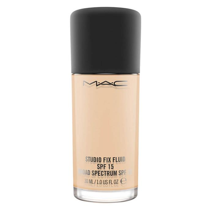 """An iconic choice, M.A.C's foundation bills itself as medium coverage with SPF for skin protection.<br><Br> Studio Fix Fluid SPF 15 by M.A.C, $54 at [MECCA](https://www.mecca.com.au/mac-cosmetics/studio-fix-fluid-spf-15/V-030340.html