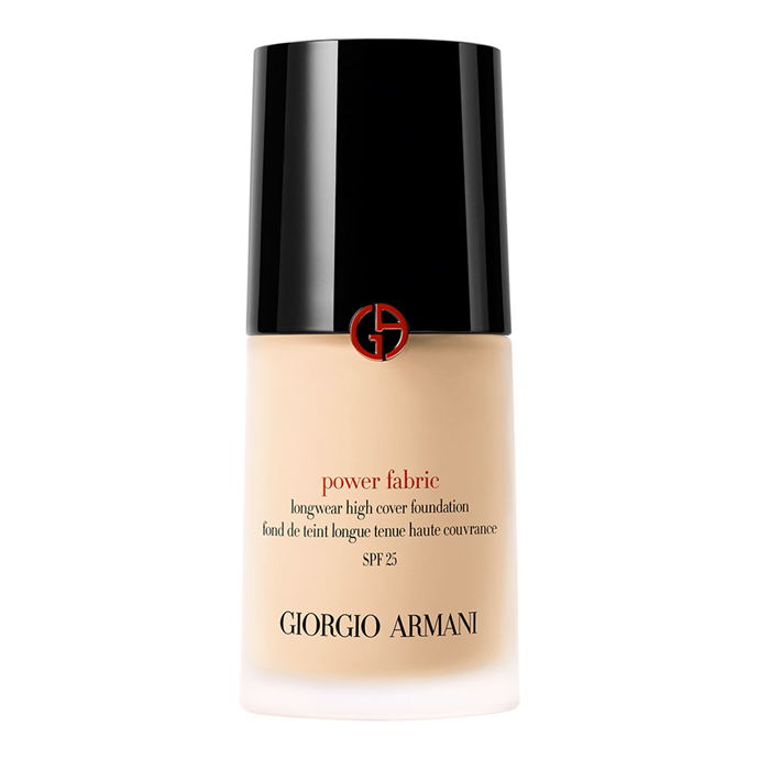 """Lightweight and soft, Armani's matte foundation melts into and then blurs the skin.<br><br> Power Fabric Longwear High Cover Foundation by Giorgio Armani, $99 at [Sephora](https://www.sephora.com.au/products/giorgio-armani-power-fabric-longwear-high-cover-foundation/v/2