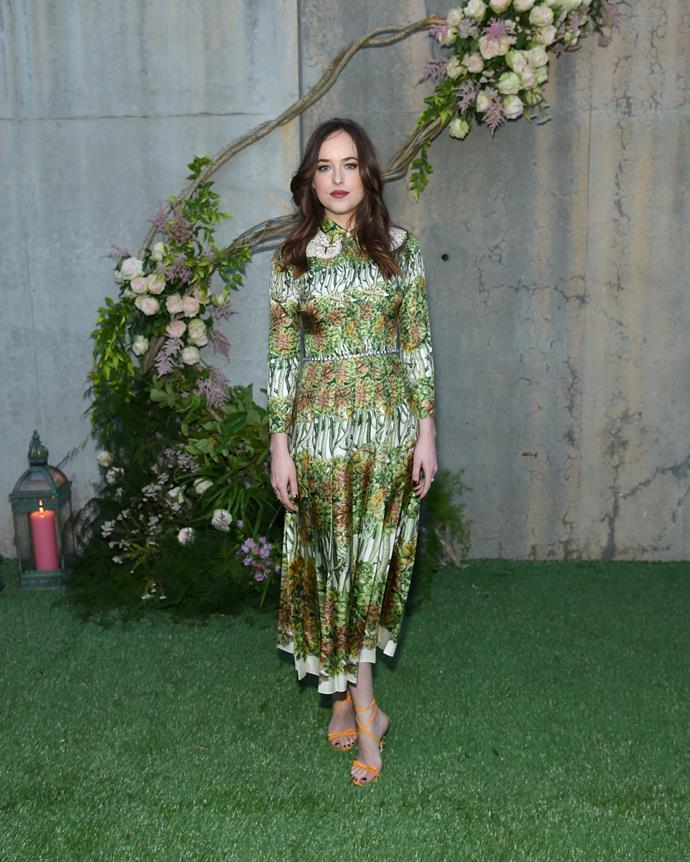 Looking bloomin' lovely at the launch of Gucci Bloom.