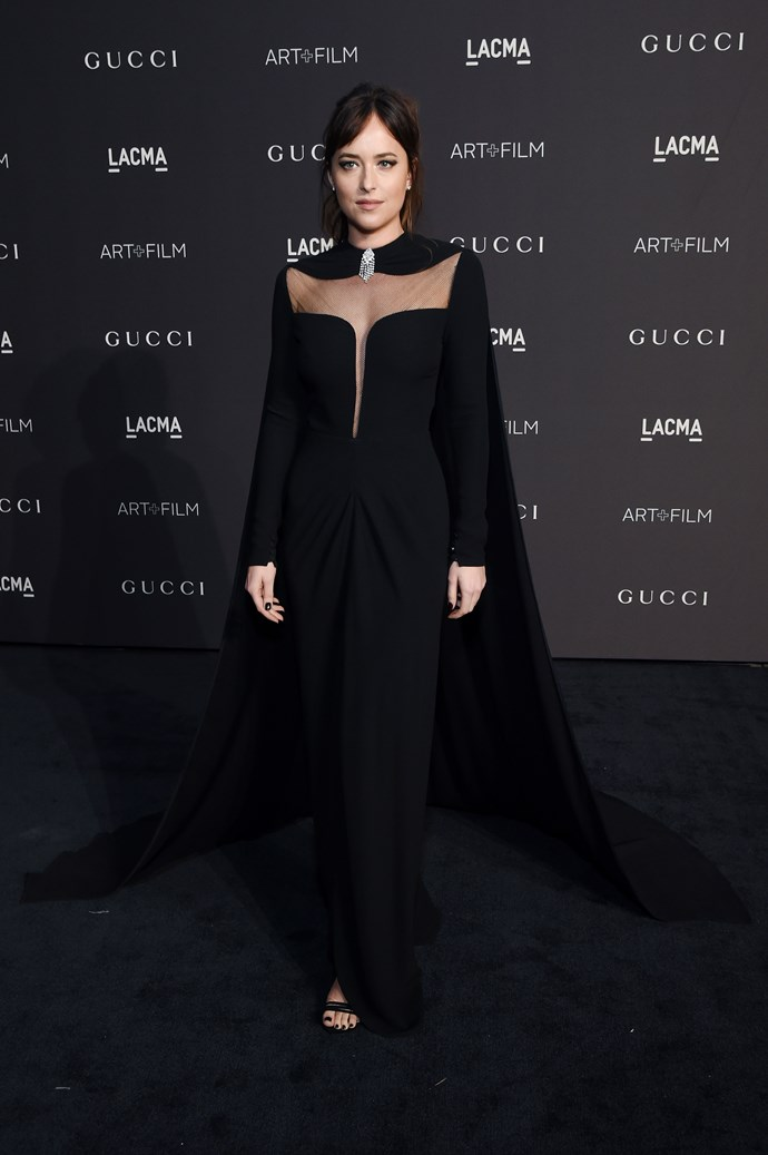 At the 2018 LACMA Art + Film Gala in a very vampy look.