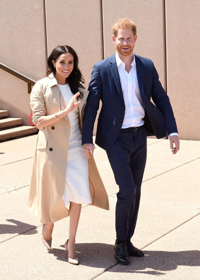 ***Day one in Sydney***<br><br> Dress by Karen Gee: $1800 <br> Trench coat: $3,050 <br> 'BB' pumps by Manolo Blahnik: $936 <br><br> Total: $5,786