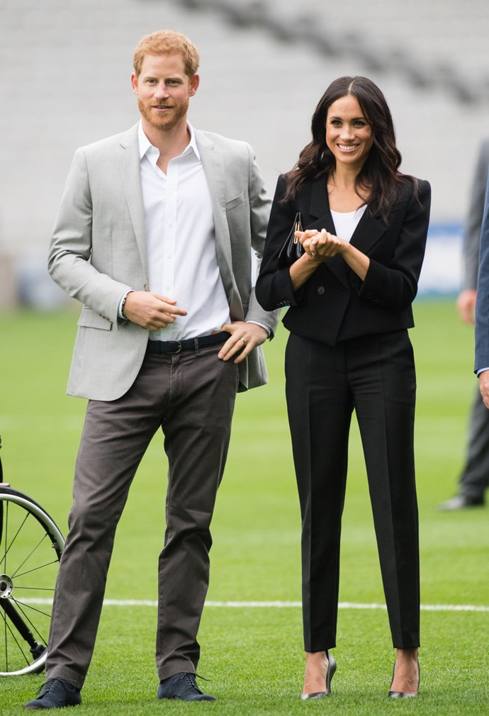 ***Ireland sports tour***<br><br> Suit by Givenchy: $4,483<br> Shirt by Lavender Hill: $59<br> Belt by Givenchy: $507<br> Bag by Givenchy: $3,327<br> Shoes by Sarah Flint: $482<br><br> *Total:* $8,558