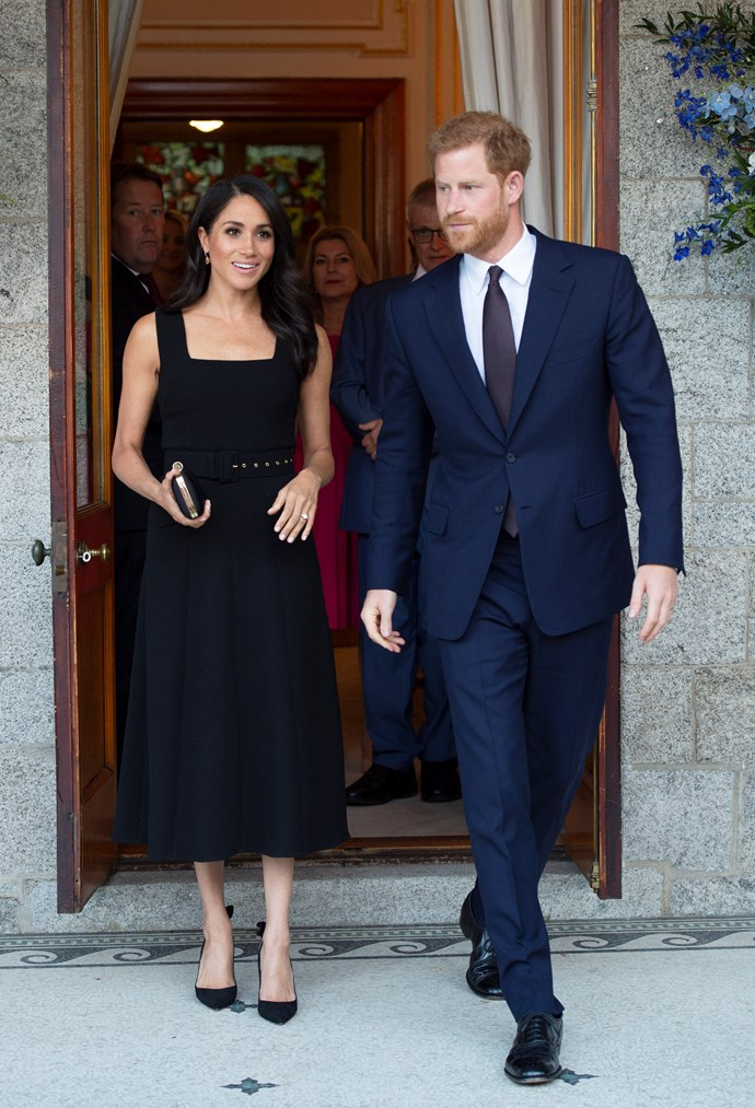 ***Ireland garden party***<br><br> Dress by Emilia Wickstead: $3,585<br> Earrings by Birks: $4,719<br> Shoes by Aquazurra: $1,018<br> Clutch by Givenchy: $2,702<br><br> *Total:* $12,024