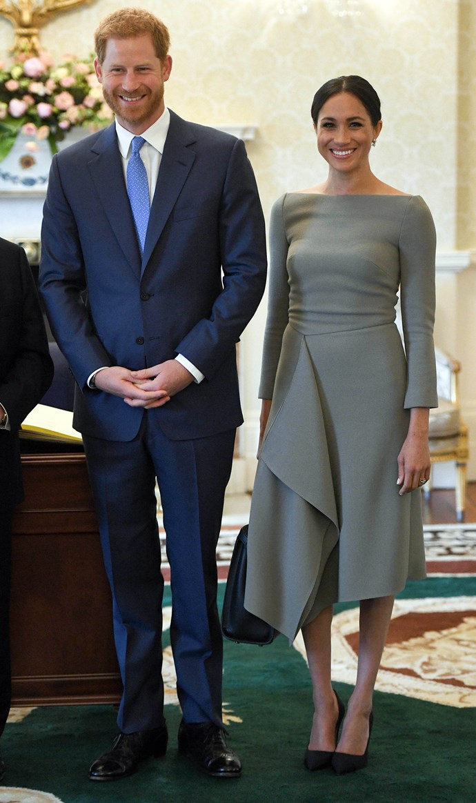 ***Presidential meeting in Ireland***<br><br> Dress by Roland Mouret: $2,689<br> Earrings by Birks: $16,299<br> Shoes by Paul Andrew: $848<br> Bag by Fendi: $8,828<br><br> *Total:* $28,664
