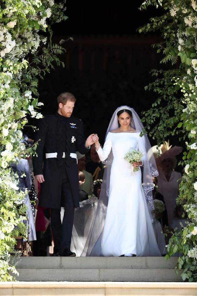 ***Wedding to Prince Harry***<br><br> Dress by Givenchy: $500,000 <br> Bracelet by Cartier: $227,000 <br> Earrings by Cartier: $100,000<br> Shoes by Givenchy: $4,000<br><br> *Total:* $831,000