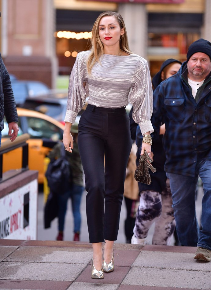 Miley Cyrus in New York City on December 10, 2018