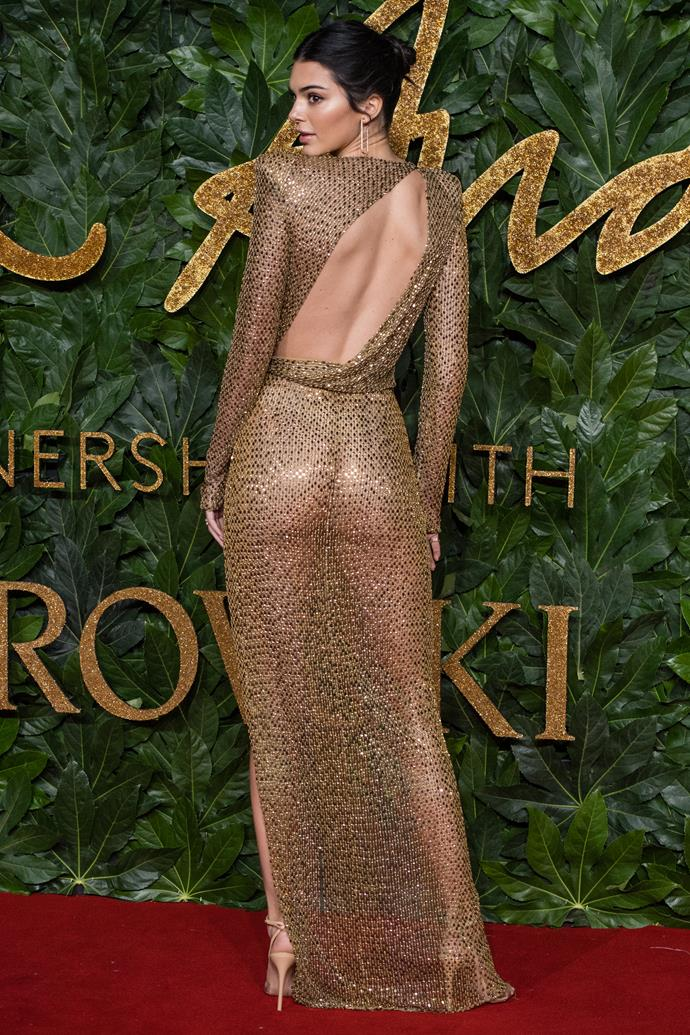In Julien Macdonald at the 2018 British Fashion Awards, December 2018.
