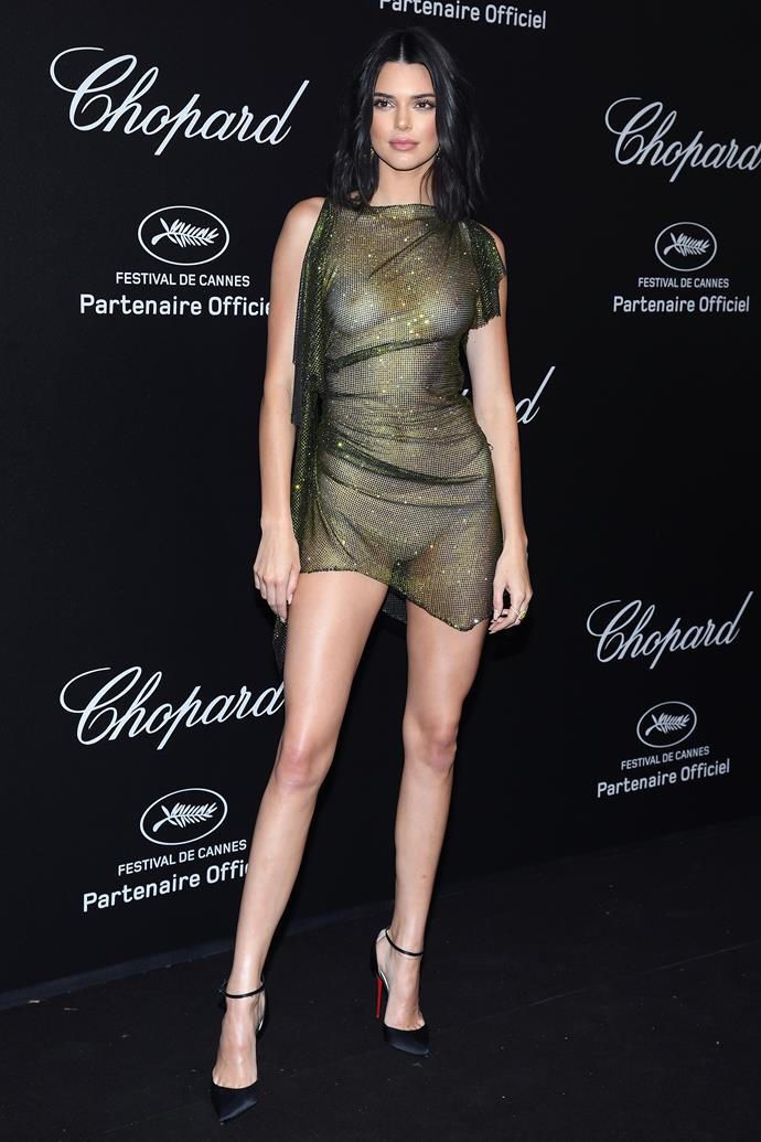 In Alexandre Vauthier at the Cannes Film Festival, May 2018.