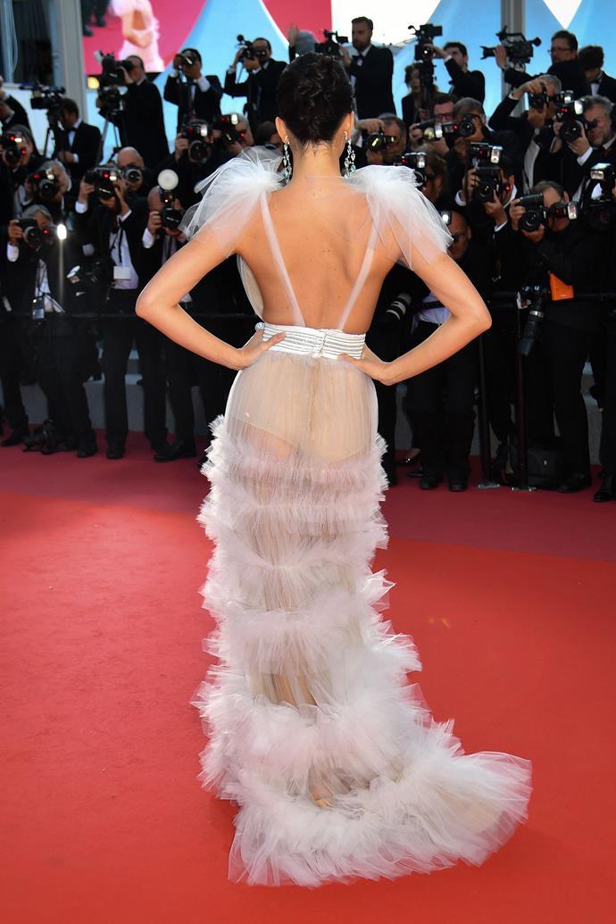 In Schiaparelli Haute Couture at the Cannes Film Festival, May 2018.