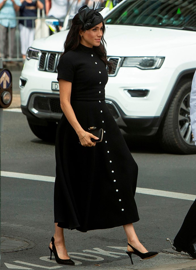 ***Tabitha Simmons 'Millie' Slingback Pumps*** <br><br> British designer Tabitha Simmons has mastered elegant, tasteful dress shoes with a twist. The Duchess of Sussex is one of her many fans, and donned her bow-adorned 'Millie' pumps on multiple occasions during her Australian visit—even though the black iteration is sold out.