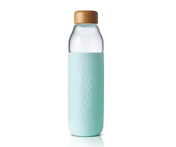 """Soma glass water bottle, $59.95 at [Myer](https://www.myer.com.au/search?query=Soma%20water%20bottle