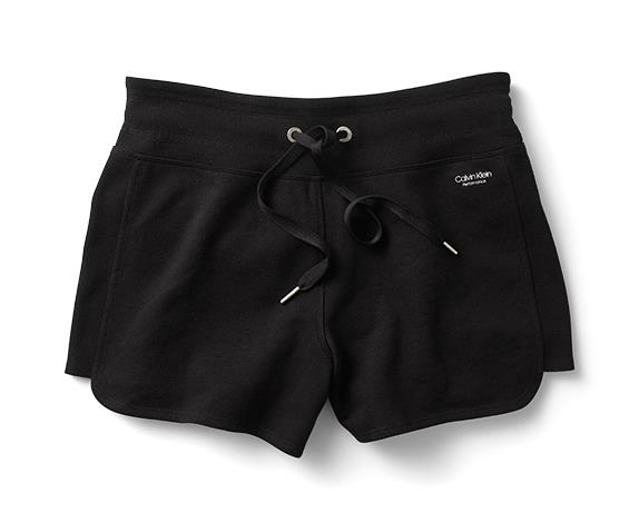 "Calvin Klein shorts, $79.95 at [Myer](https://www.myer.com.au/p/ck-performance-curved-hem-short-w-logo-tape-656079760-1|target=""_blank""|rel=""nofollow"")"