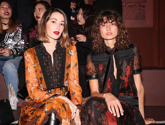 Carmen Hamilton and Roberta Pecoraro front-row at Coach's pre-fall '19 Shanghai show.