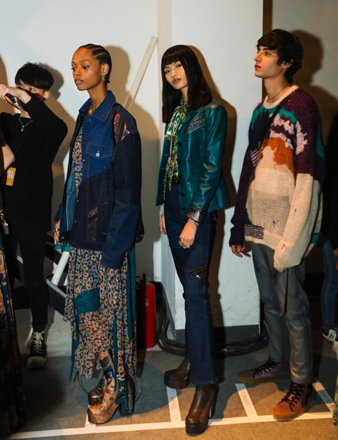 Backstage at the pre-fall '19 Coach show in Shanghai.