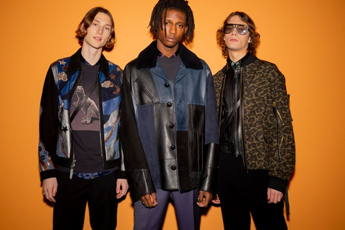 Vevers creative direction has seen an exploration into fashion-forward men's wear, pictured here at the pre-fall '19 Shanghai show.