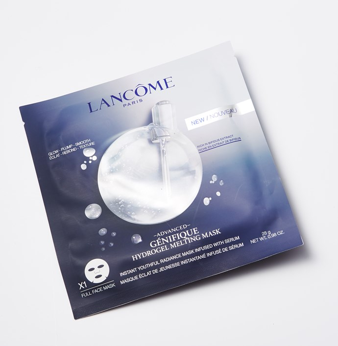 """**BEST MASK: Lancome Advanced Génifique Hydrogel Melting Mask** <br><br> """"This amazing luxurious mask contains Advanced Genifique serum's bifidus extract, which repairs and plumps the skin instantly. Definitely a saviour when your skin is irritated!"""" - Ymiko Murata, *ELLE Japan*. <br><br> *Advanced Génifique Hydrogel Melting Mask, $29, [Lancome](https://www.adorebeauty.com.au/lancome/lancome-advanced-genifique-hydrogel-melting-mask-3.html?gclid=CjwKCAiA9efgBRAYEiwAUT-jtKdMjzsMdX3jjLOop3cEWvV7lQ-dxnts3YiAzc9-yJmnEkam4O_aixoCJpIQAvD_BwE