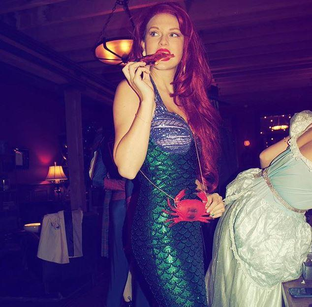 Taylor Swift as Ariel, the Little Mermaid.