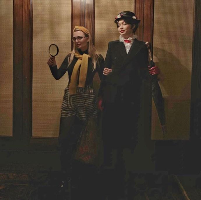Hadid with good friend McCall Koenig, who went as Nancy Drew.