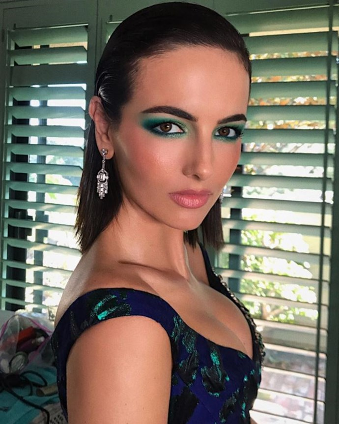 Camilla Belle's beauty look, courtesy of Hung Vanngo.