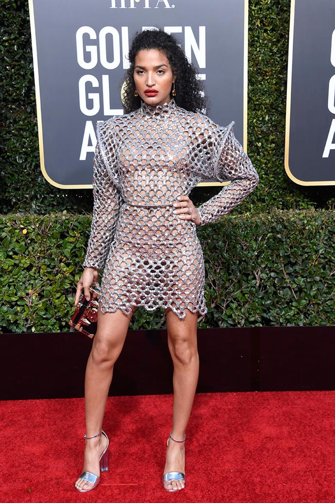 Indya Moore in Louis Vuitton.