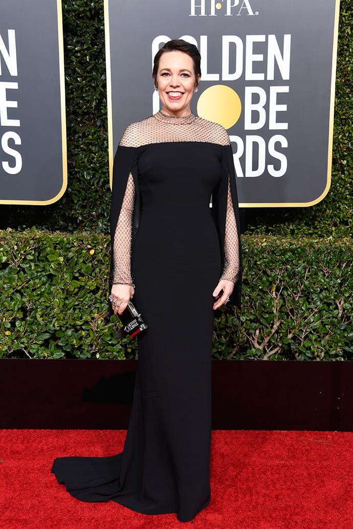 Olivia Colman in Stella McCartney.