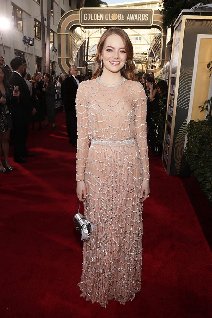 Emma Stone in Louis Vuitton.