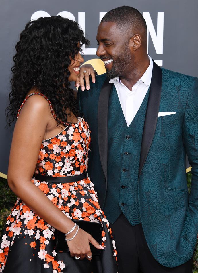 Idris Elba and his fiancée, Sabrina Dhowre.
