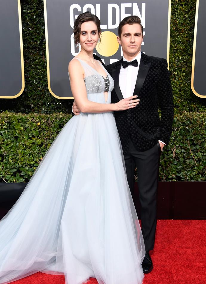 Alison Brie and her husband, Dave Franco.