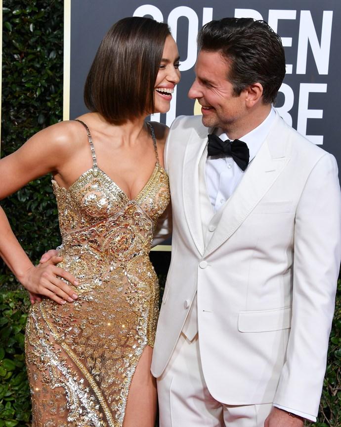 Irina Shayk and her partner, Bradley Cooper.