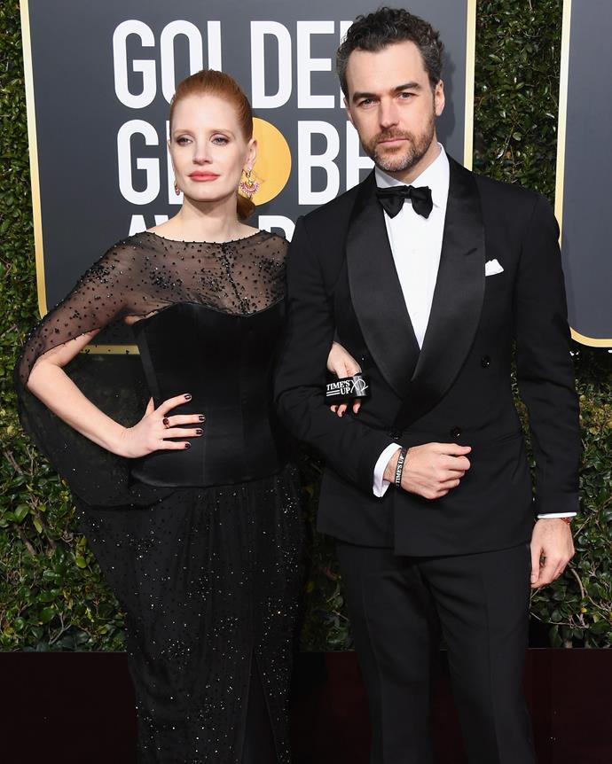 Jessica Chastain and her husband, Gian Luca Passi de Preposulo.