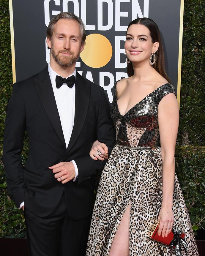 Anne Hathaway and her husband, Adam Shulman.