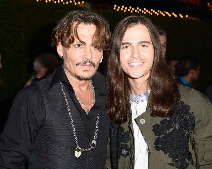 Johnny Depp and Anthony De La Torre in May 2017.