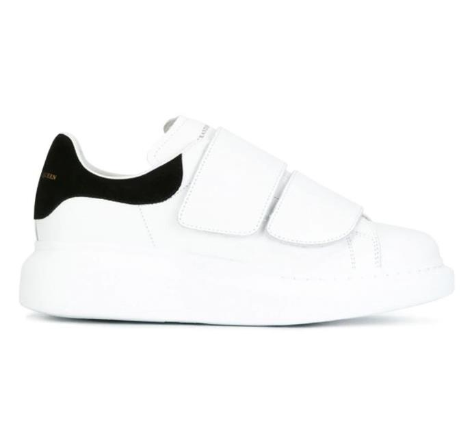 """***Alexander McQueen extended sole sneakers*** <br><br> The laced version of McQueen's ample-soled sneakers may have made our list for [2018](https://www.elle.com.au/fashion/sneaker-trends-2018-17741