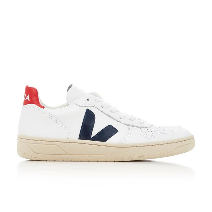 """***Veja Nautico sneakers*** <br><br> Okay, so we know we included Vejas on last year's list, but they *really* blew up in 2018 (courtesy of one Meghan Markle, AKA the Duchess of Sussex). If you haven't nabbed your pair yet, now's definitely the time. <br><br> *Veja sneakers, $195 at [Moda Operandi](https://www.modaoperandi.com/veja-fw17/v10-extra-white-nautico-pekin-pierre-leather-sneakers