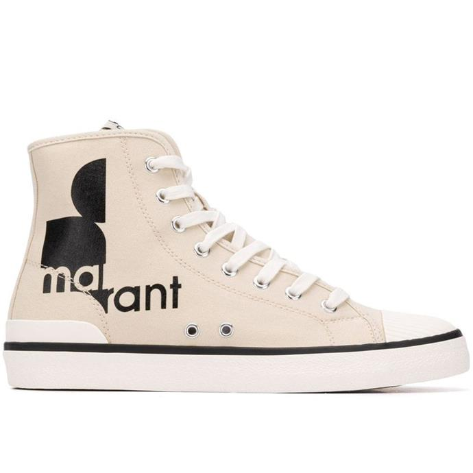 """***Isabel Marant logo sneakers*** <br><br> Isabel Marant kicks are a necessity in every cool-girl wardrobe, and the French designer's '70s-style logo iteration would look on-point with either a slip dress or your most-worn Levi's. <br><br> *Isabel Marant sneakers, $365 at [Farfetch](https://www.farfetch.com/au/shopping/women/isabel-marant-logo-hi-top-sneakers-item-13562063.aspx?storeid=9783