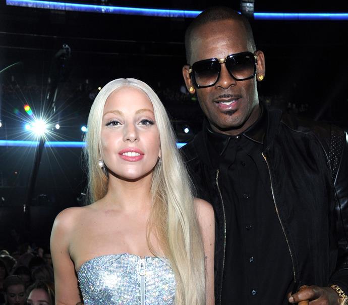 Lady Gaga and R. Kelly at the American Music Awards in November 2013.