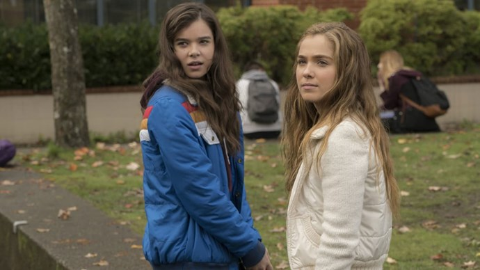 Hailee Steinfeld (left) and Hayley Lu Richardson in *The Edge of Seventeen*.