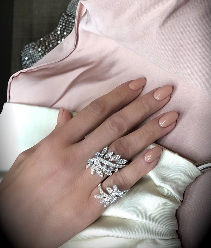 """*Nude*<br><br> Ultra-classic but never boring, nude is on high rotation for Papadopoulos. """"There are so many different shades, so you can find one perfectly to match your skin tone. It's feminine and classic whilst also being very glam with the extra length."""" Thinking about asking for nude(s)? [OPI's Tiramisu For Two](https://www.opi.com/nail-products/nail-polish/tiramisu-two#qYbJQP7g4v6RkJc2.97 target=""""_blank"""" rel=""""nofollow"""") and Gelish's [Tan My Hide](https://www.auswax.com.au/tan-my-hide-15ml target=""""_blank"""" rel=""""nofollow"""") are both popular. <br><br> Image via [@tombachik](https://www.instagram.com/p/BrjX1LrhA6F/ target=""""_blank"""" rel=""""nofollow"""")."""