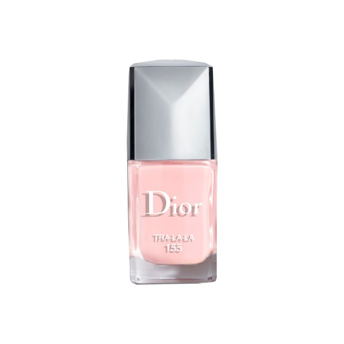 """*Pale pink*<br><br> Looking for something subtle but still cute? Papadopoulos recommends """"soft creamy pinks, for the girly girls.""""<br><br> Nail polish in 'Tra-la-la', $28 by [Dior Beauty](https://www.dior.com/en_us/products/beauty-y0002959_f000355155-nail-lacquers-couture-colour-gel-shine-long-wear