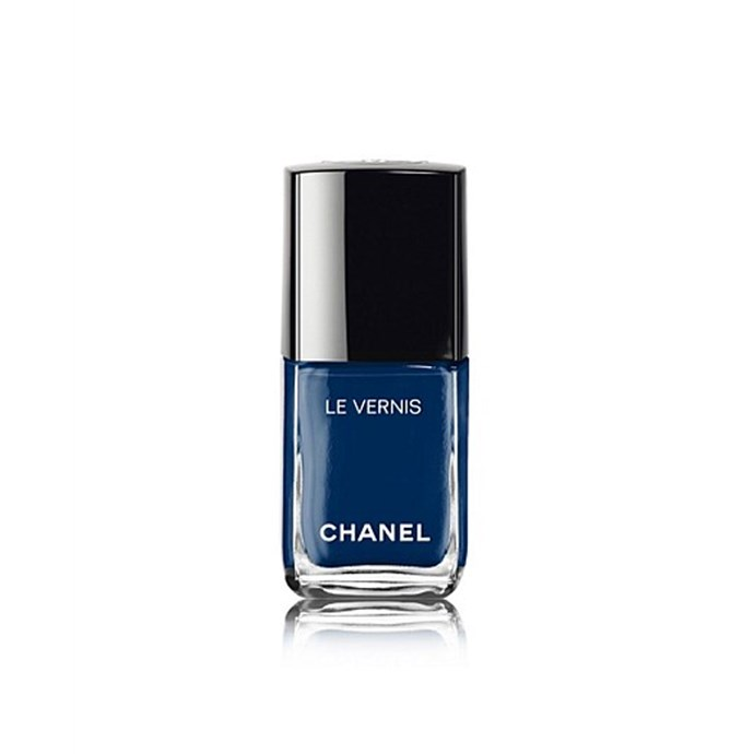 """*Midnight blue*<br><br> Shelve the baby- and sky-blues for now, summer is calling for a touch of midnight. """"It's a different tone for the dark lovers. This tone suits all skin types.""""<br><br> Nail polish in 'Bleu Trompeur' by Chanel, $41 at [David Jones](https://www.davidjones.com/le-vernis-longwear-nail-colour-20446730