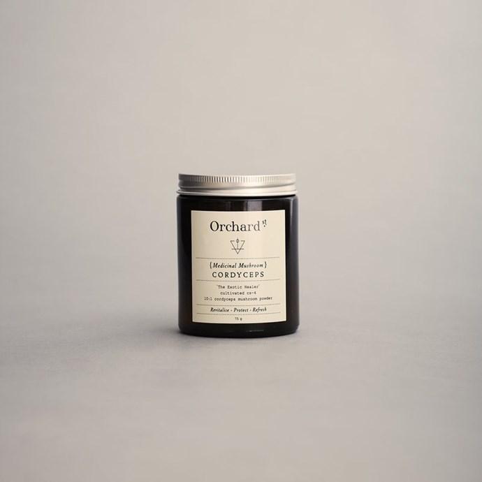 "Cordyceps powder, $38 at [Orchard Street](https://orchardstreet.com.au/products/cordyceps|target=""_blank""|rel=""nofollow"")."