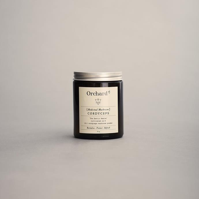 "Cordyceps powder, $38 at [Orchard Street](https://orchardstreet.com.au/products/cordyceps|target=""_blank""