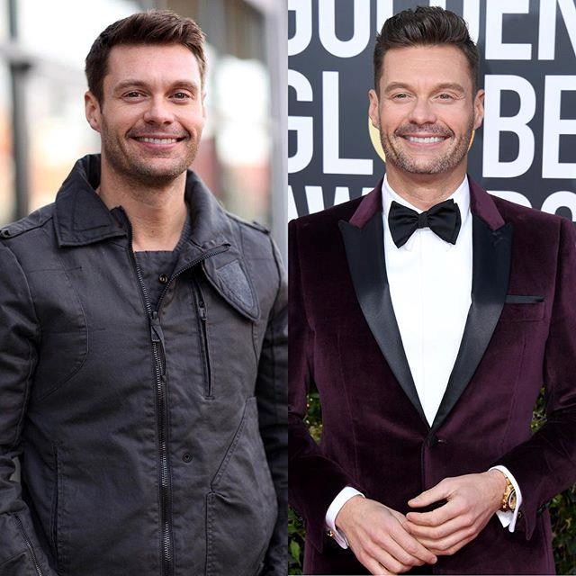 "***Ryan Seacrest*** <br><br> ""When time and hair product are on your side #10YearChallenge"" <br><br> *Image: [@ryanseacrest](https://www.instagram.com/p/BsndaRjga_A/