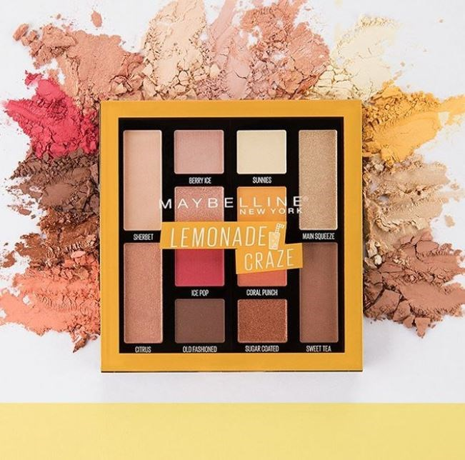 **MAYBELLINE LEMONADE CRAZE PALETTE** <br><br> Remember when you were little and you liked your makeup to smell like strawberries? Consider this highly hyped palette a return to that. The Lemonade Craze palette boasts 12 high pigment eyeshadow shades and smells like, well, lemonade. The colours are gorgeous and the scent will have you feeling summery year round. <br><br> **Release date:** February 2019.