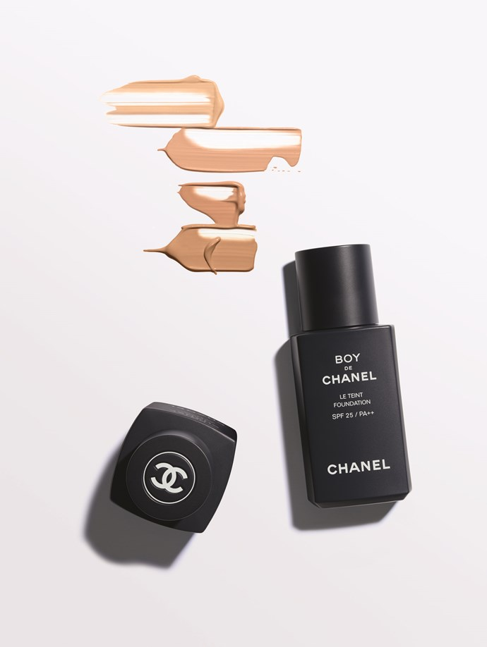 "**BOY DE CHANEL LE TEINT** <br><br> In a landmark move for Chanel, they're introducing their first-ever makeup collection for men, featuring this long-wearing, lightweight tinted liquid foundation. Designed to have a ""second-skin effect"" that makes it virtually indistinguishable for your regular face, Le Teint offers the kind of coverage women will also crave. We're here for androgynous makeup in 2019. <br><br> **Release date:** February 3, 2019."