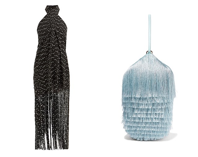 "Dress by Jacquemus, $1,530 at [MATCHESFASHION.COM](https://www.matchesfashion.com/au/products/Jacquemus-Cortese-fringed-halterneck-dress-1255515|target=""_blank""